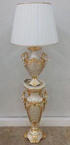 Colonna e lume 1 luce via veneto ceramica oro oggetti for Complementi d arredo via veneto