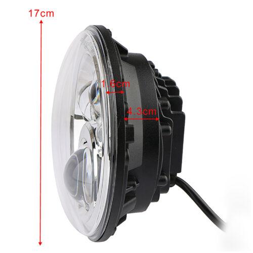 """Motorrad 7/"""" DRL Hi//lo LED-Projektion Scheinwerfer für Harley Davidson Jeep"""