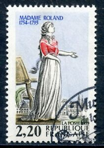 Ouvert D'Esprit Stamp / Timbre France Oblitere N° 2593 Revolution / Mme Roland