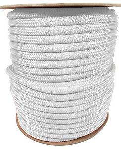 """ANCHOR ROPE DOCK LINE 5//8/"""" X 250/' BRAIDED  BLACK MADE IN USA"""