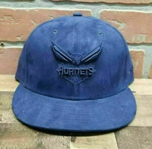 Men-039-s-New-Era-9Fifty-Charlotte-Hornets-NBA-Blue-Snapback-Cap