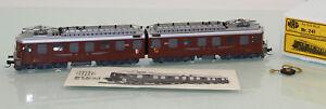 HAG-h0-241-Suisse-double-E-Lok-Ae-8-8-Marron-le-BLS-a-fait-etat-neuf-dans-neuf-dans-sa-boite-sl323