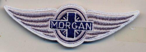 morgan motor company auto car  IRON ON embroidery patch  3.5 X 1.5  Automobile