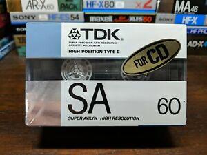 2-Pack-TDK-SA-60-Blank-compact-audio-cassette-tape-Type-II-Circa-1988-JDM