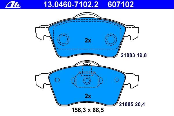 Kopfstützenbezüge blau KOP SUZUKI WAGON R+