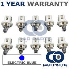 10X B8.5 BLUE SPEEDOMETER DASHBOARD PANEL TACHO LIGHT DOME LED BULBS