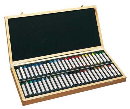 50 Surtidos Sennelier Aceite Pastel Caja De Madera Set
