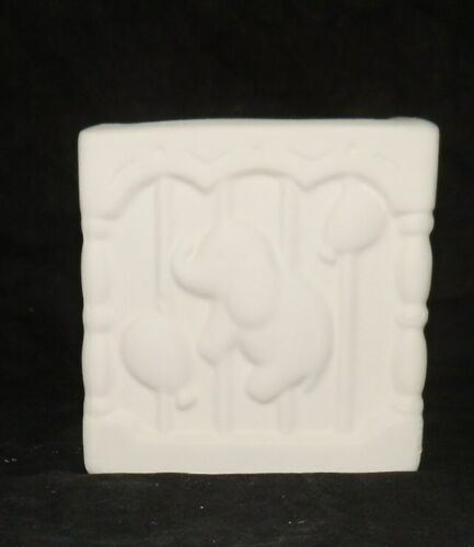 Small Baby Block Planter Vase Ceramic Bisque Ready to Paint