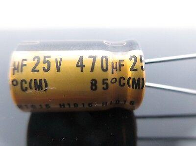 JAPAN 3pcs Nichicon MUSE FG(Fine Gold) 470Uf 25V 470mfd Audio Capacitor