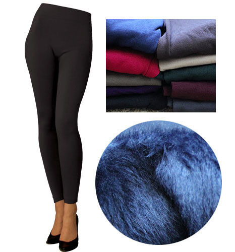 Pack 1 pc Quality Fur Thick SEAMLESS Plain Tight Thick Stretchy Fleece Legging