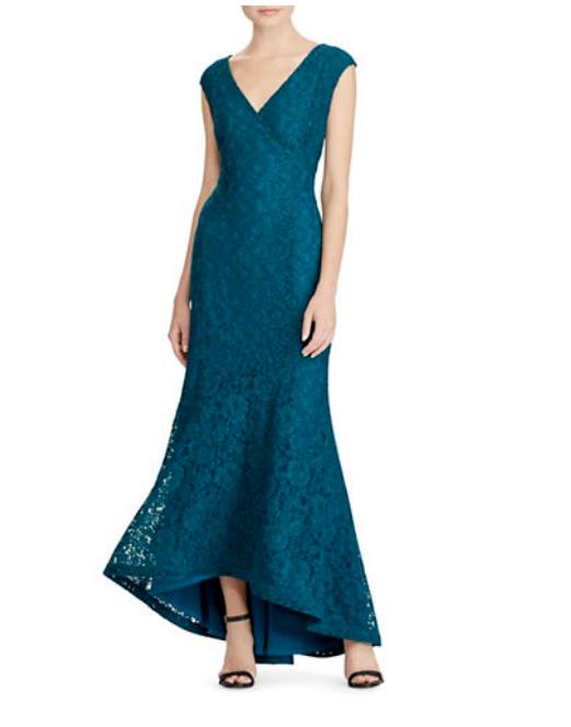 Lauren Ralph Lauren floral dentelle robe de fabricants Standard prix de détail  260 taille 4   3 A 262 NEUF