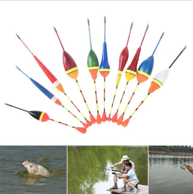10pcs Assorted Sizes Lot Fishing Lure Floats Bobbers Slip Drift Tube