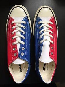 635e34a03846a9 Converse 70s Yacht Club Supreme Tri-Color Lo Top Blue Red White new ...