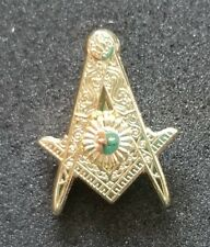 Senior Deacon Officers Lapel pin Sr Deacon Masonic Mason  Gold