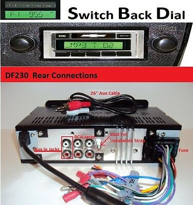 1973-86 Chevy Truck AM FM Stereo Radio w/ Switch Back AM Dial See Inside 230DF