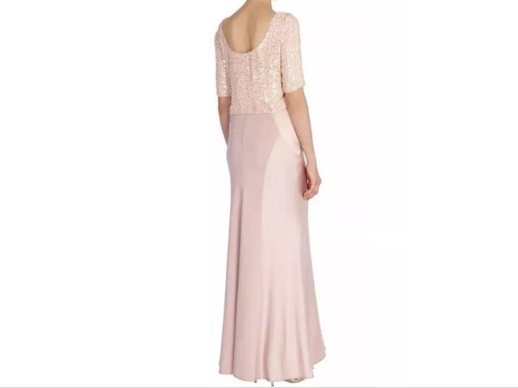 BNWT COSTA     Taglia 14 dera Blush rosa Maxi Gonna da Sera Cocktail Matrimonio Nuovo f01ef2