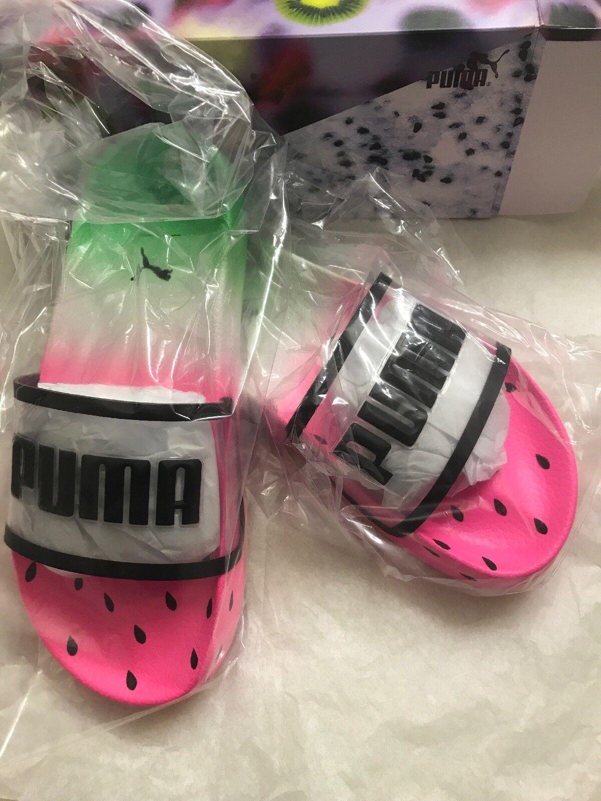 Puma x Sophia Webster Leadcat Candy Princess Flat Sport Slide Sandals, Size 7.5