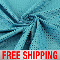 Football Basketball Jersey Mesh Fabric Sports Teal 60 Wide. Free Shipping