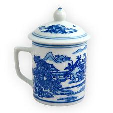 In scatola due pezzi Cina blu e bianco porcellana tè tazza-PAESAGGIO DESIGN