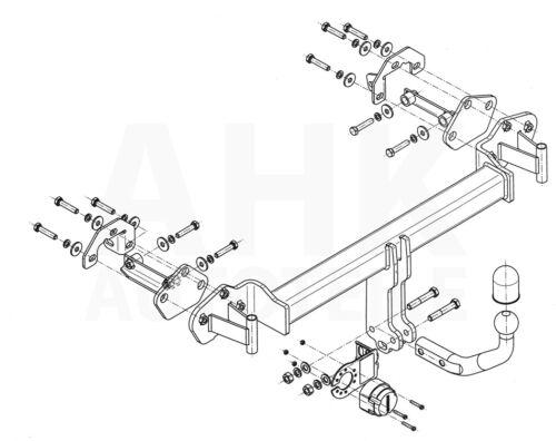 Für BMW 3er E46 Touring Anhängerkupplung starr+ESatz 13pol ABE