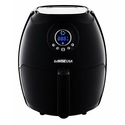 GoWISE 2.75 Qt. 1350W Electric Digital Air Fryer w/ Detachable Basket | Black