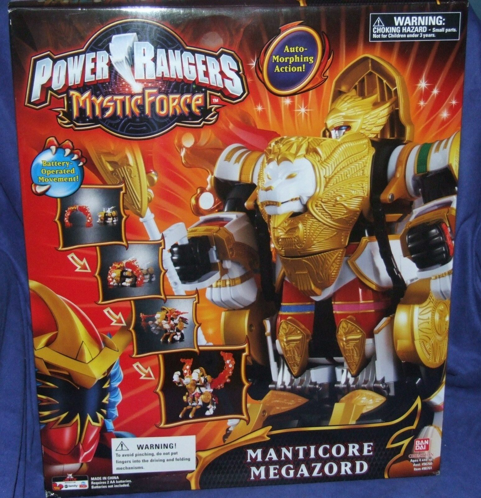 Power Rangers Mystic Force MANTICORE Electronic Megazord New Factory Sealed 2006