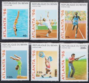 PP13-BENIN-STAMPS-1996-OLYMPICS-ATLANTA-USA-MNH