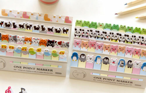 Mini Cartoon Portable 150 Pages Sticker Post Bookmark Index Tab Pad Sticky Notes