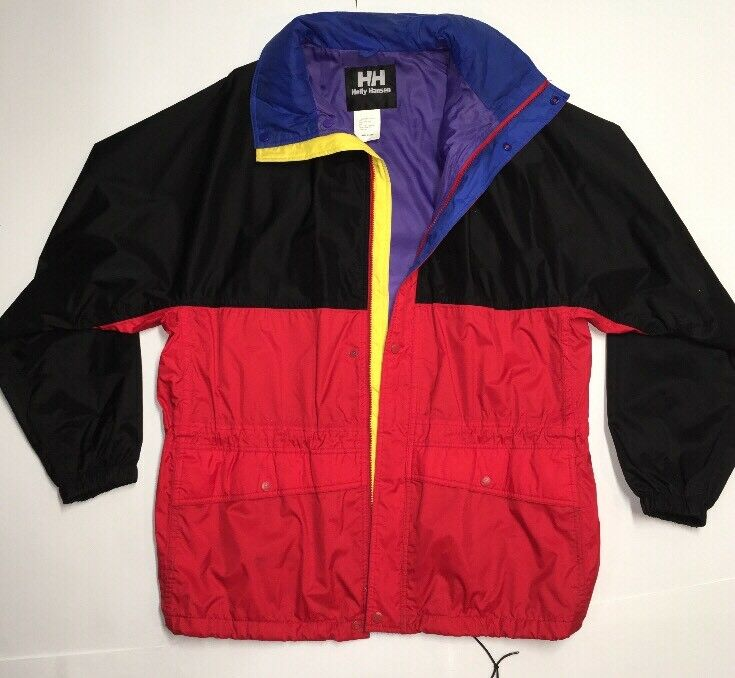Vintage 1990s Helly Hansen Windbreaker Secret Hood Helly Tech  Herren