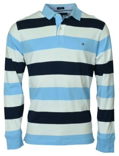 Tommy Hilfiger Striped Long Sleeve Polo-Large