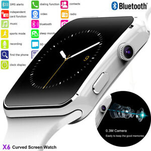 NEW-X6-Curved-Screen-Bluetooth-Smart-Watch-Phone-Mate-for-Samsung-Android-iOS
