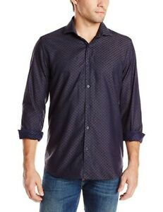 Stone-Rose-Men-039-s-Polka-Dot-Long-Sleeve-Shirt-NWT-M-L