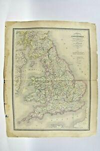Carte particulière de l'Angleterre et de la principauté de Galles 1840 - Piat