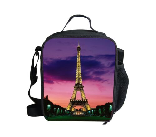 Eiffel Tower Thermal insulated school lunchbag Box Food Container Women Travel