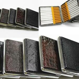 Stainless-Steel-Cigarette-Case-Cigar-Tobacco-Pocket-Box-Leather-Pouch-Holder