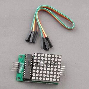 NEU-LED-Matrix-Modul-MAX7219-Modul-Steuerung-Display-Modul-fuer-Arduino-Kontrolle