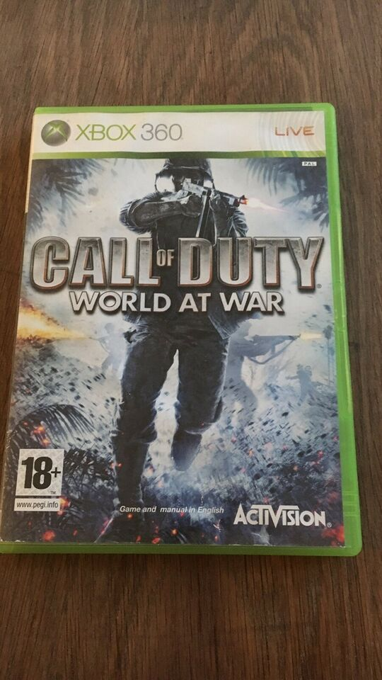 Call of duty , World at war, Xbox 360