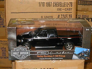 1-18-Ertl-32389-034-AMERICAN-MUSCLE-034-FORD-F150-HARLEY-DAVIDSON-edt-nero