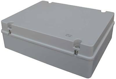Outdoor Weatherproof IP56 Plastic Junction Box 380x300x120 Enclosure Hinged Lid