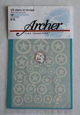Archer 1/48 US AFV Vehicle Stars in Circles (Plain & Stencil) (White) AR48048W