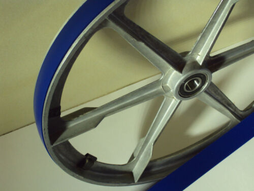 2 pneu set 2 Bleu MAX Heavy Duty uréthane bande scie pneus pour INCA 340 scie à ruban