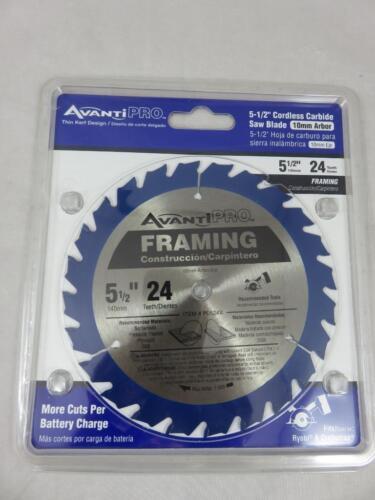 "NEW Avanti Pro 5 1//2/"" Cordless Carbide Saw Blade Framing 24 Tooth P0524X"