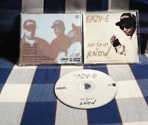 Eazy-E - Just Tah Let U Know - 1995 US Promo CD - Ruthless Records N.W.A