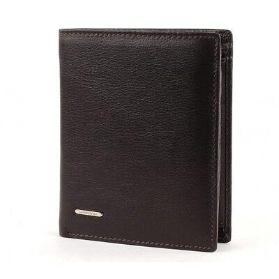 Samsonite NYX Hochformatbörse Geldbörse Portemonnaie Dark Brown Braun Leder Neu