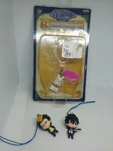 3pc blau farbige Abbildung Schlüsselanhänger Strap Anhänger Japan Kawaii Anime Lot