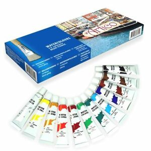 12-x-Colori-ad-Olio-in-Vari-Colori-Tubi-da-12-ML-Pittura-Hobby-Disegno-Artico