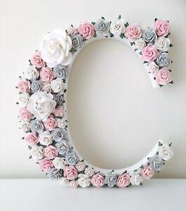 Image Is Loading Flower Letters Nursery S