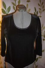 SLINKY, SEXY, BLACK VELOUR SPECIAL OCCASION TOP, BLOUSE Size XL