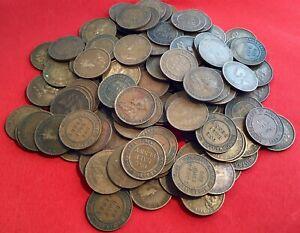 Australian-KGV-Half-Pennies-Pre-Decimal-Coins-x5-Variety-Of-Years