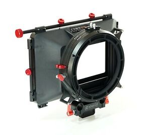 """shoot35 CINEbox 4x4"""" Matte Box with Hard Mount, Static 15mm Clamp and Flags"""